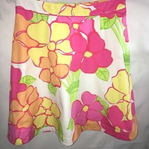 LILLY PULITZER Floral skirt SIZE 4